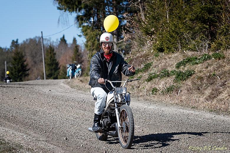 Ballongprydd mopedist