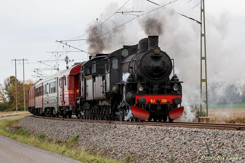 Ångloket BJ 130 på väg mot Grästorp