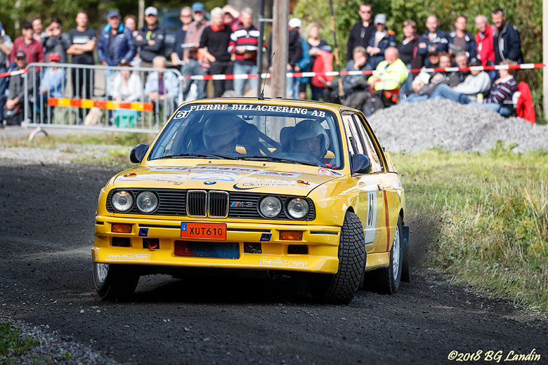 En gul BMW M3 i Strömkarlen 2018