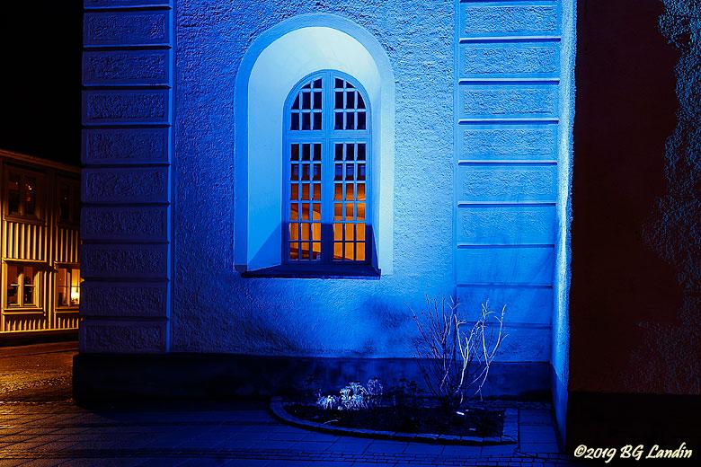 Fönster i blått
