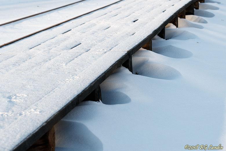 Snöig perrong