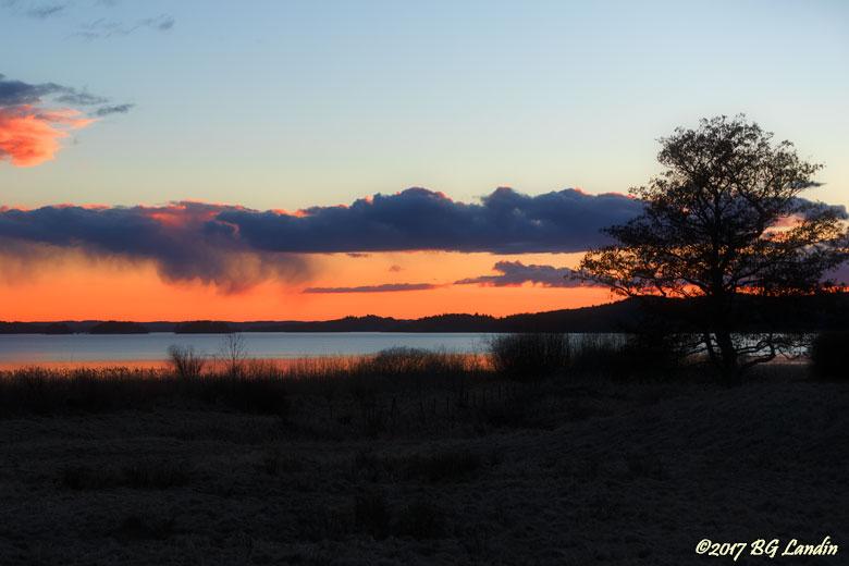 Solnedgång vid Tegelbruksviken