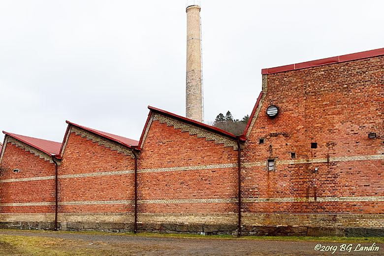 Tegelvägg vid Jonsereds fabriker