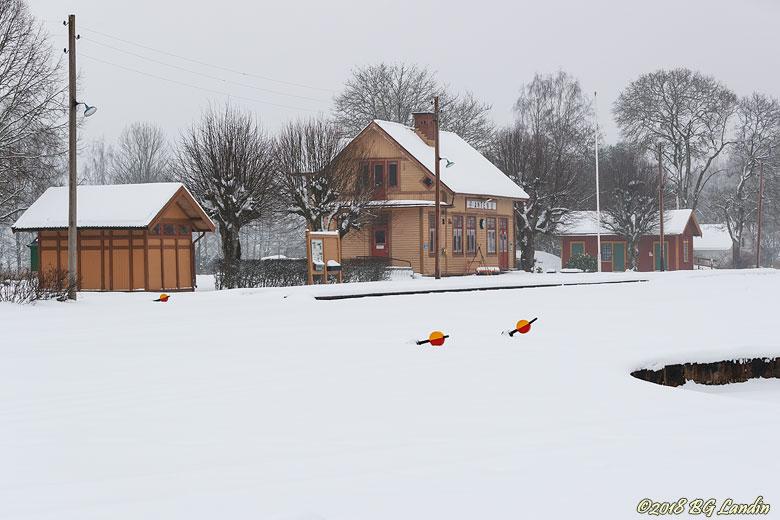 Vinter vid Antens station