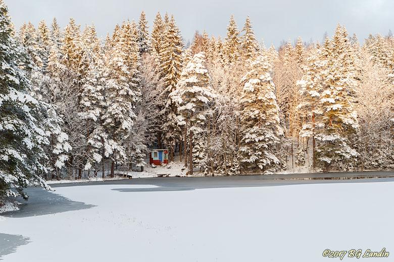 Vinter vid Fjällsjön