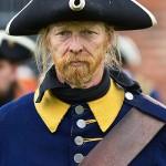 Soldat i blått
