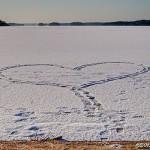 Snowheart on ice