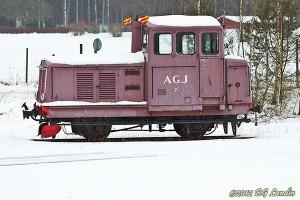 Lokomotor i vinterlandskap