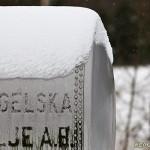 Tankvagn med snöhätta