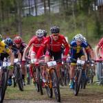 Fokuserade mountainbikare