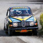 Rallyklassiker på SS2 i Kullingstrofén 2017