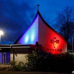 Belyst EFS-kyrka