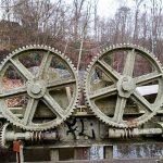 Kugghjul vid kraftverkstunnel