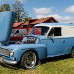 En himmelsblå Volvo Duett