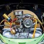 Läckert motorrum