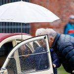 Inspektion under paraply