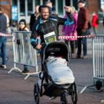 Med barnvagn i Sylvesterloppet