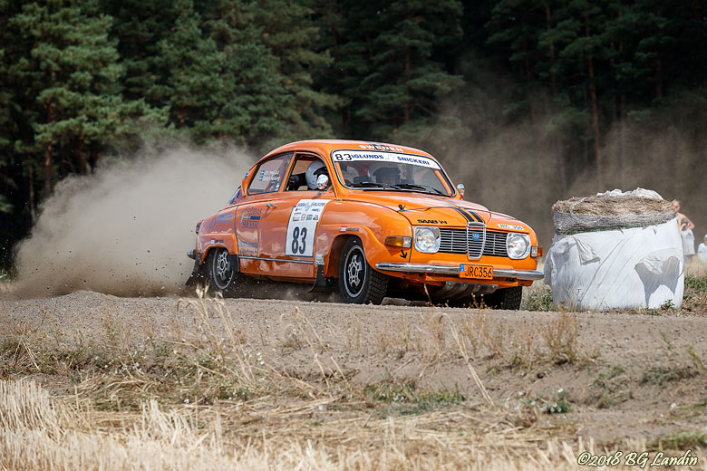 En orange Saab V4 Kullingstrofén 2018